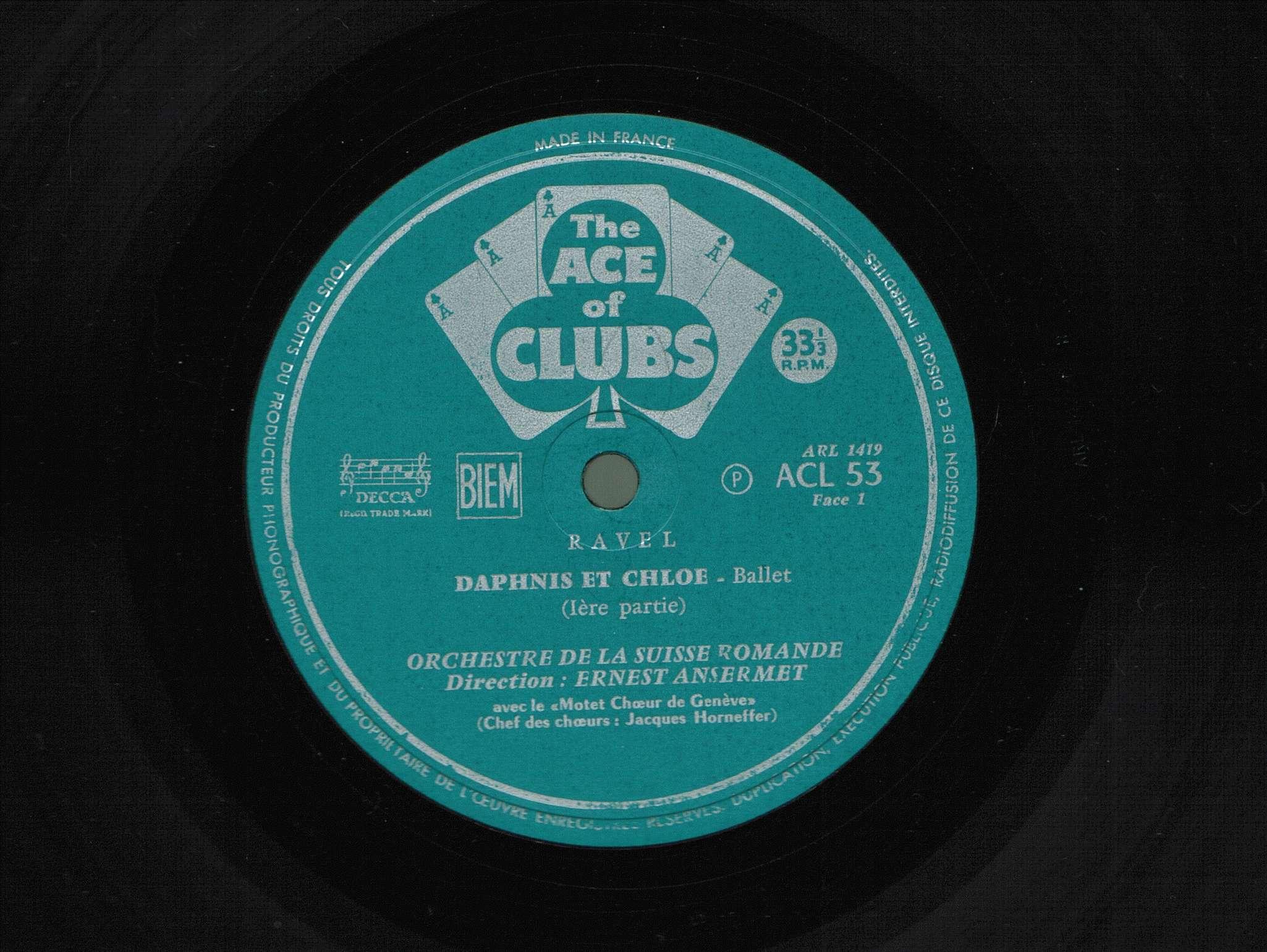 M. Ravel, Daphnis et Chloe, OSR, E. Ansermet, 1952, 4/8