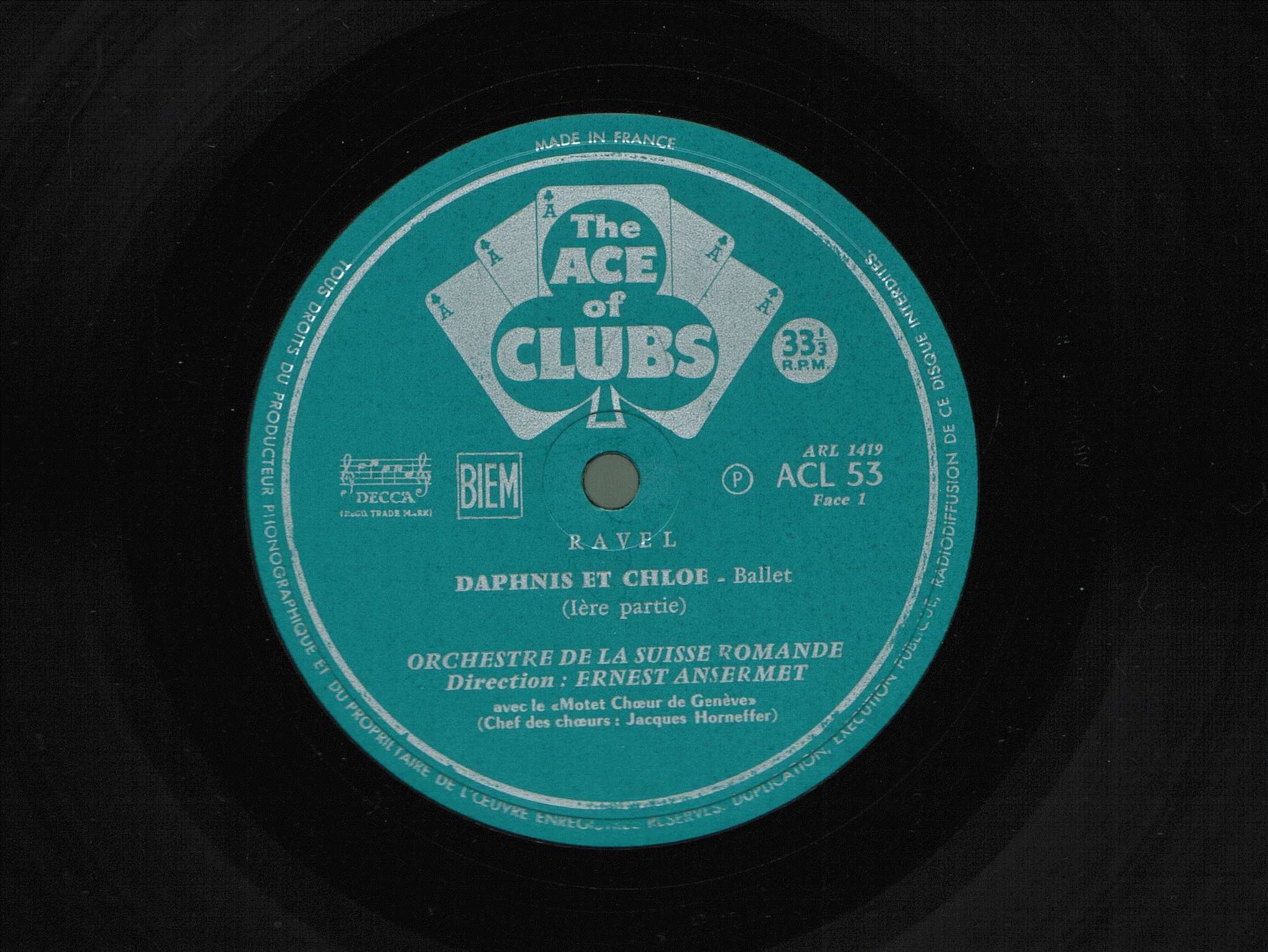M. Ravel, Daphnis et Chloe, OSR, E. Ansermet, 1952, 3/8