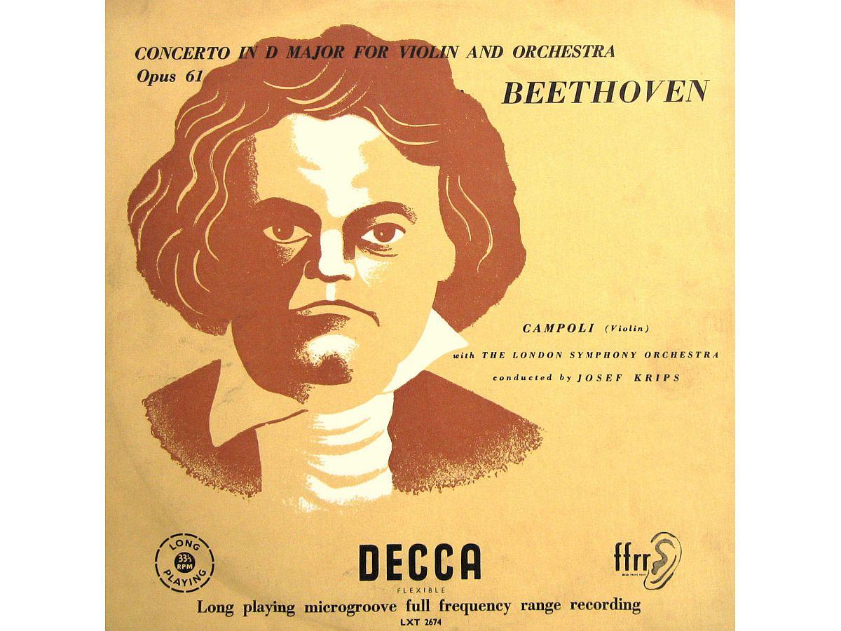L. van Beethoven, Op. 61, Alfredo Campoli, LSO, Josef Krips