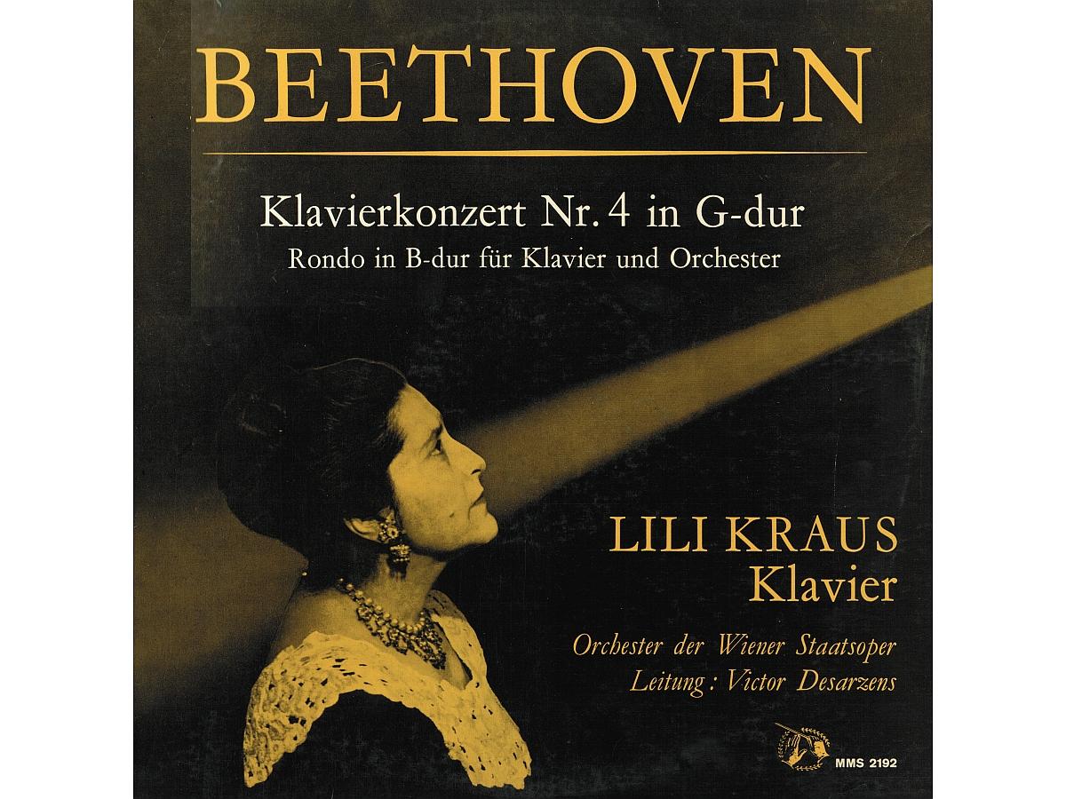 L. van Beethoven, Concerto pour piano No 4, Lili Kraus, WSOO, Victor Desarzens, 1958