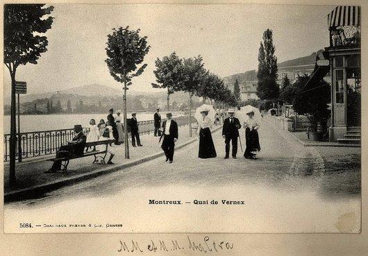 Carte postale de Montreux, Le quai de Vernex.