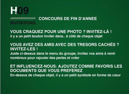 CONCOURS 2009 - Invitations