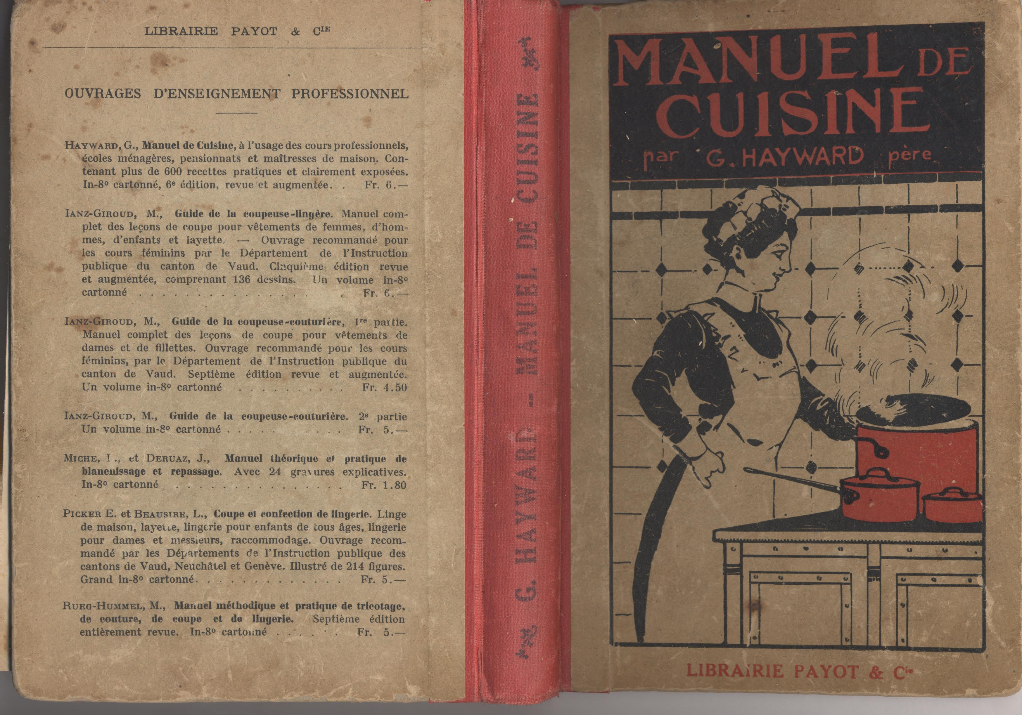 Manuel de cuisine 1927 notre histoire for Devenir prof de cuisine