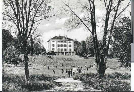 Vue Institut Haccius depuis La Praille