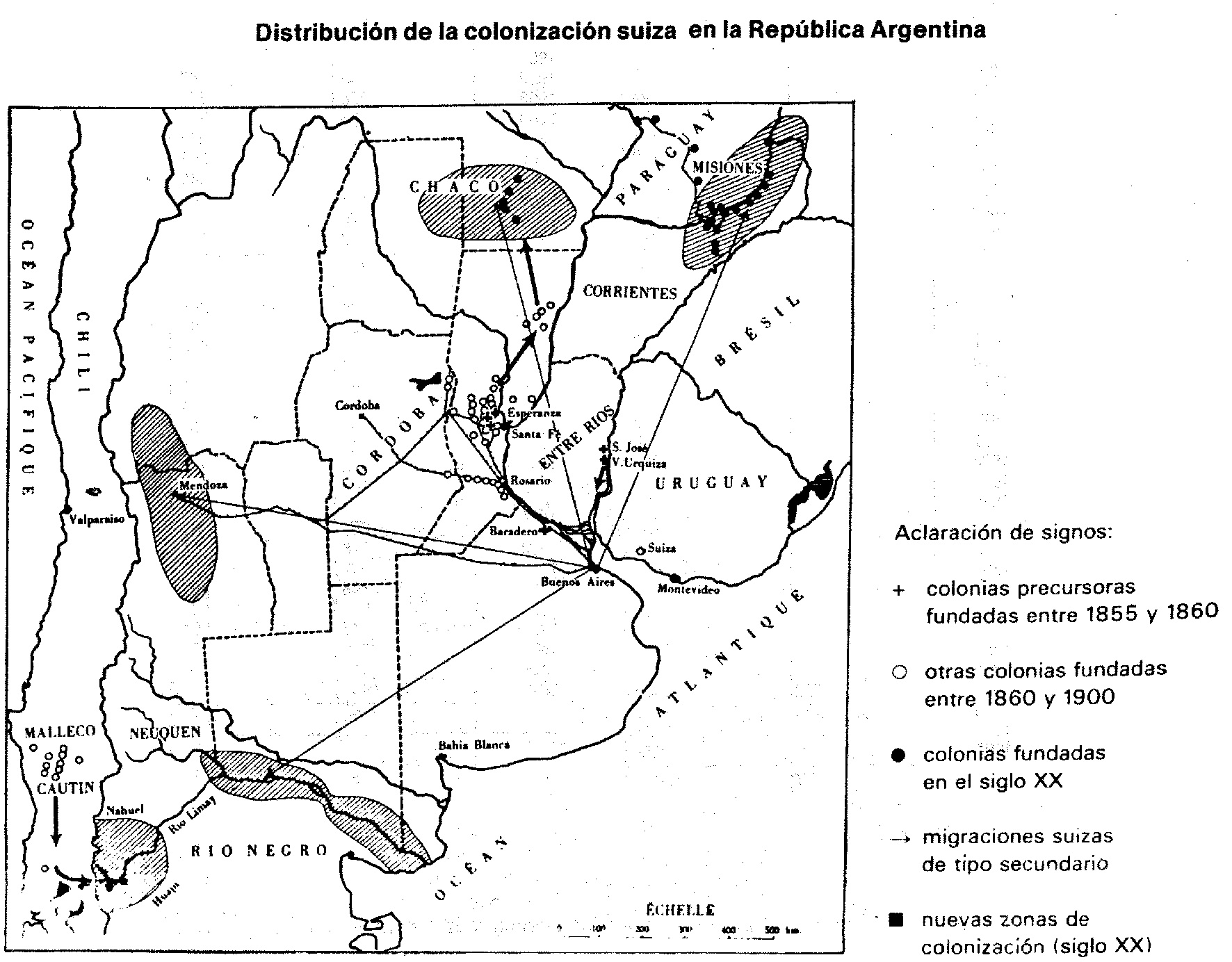 Plan colonies suisses en Argentine