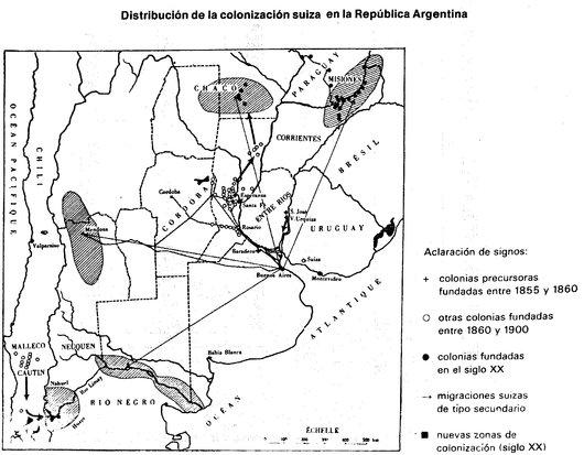 Plan colonies suisses en Argentine