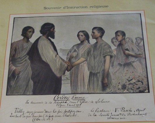 Confirmation protestante Emma Cordey