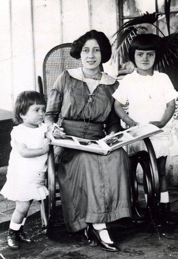 Mme Paul Delacoste, née Yvonne Couty, à Três Barras