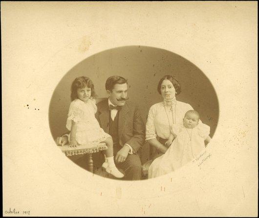 La famille de Paul Delacoste, Montreux, 1913
