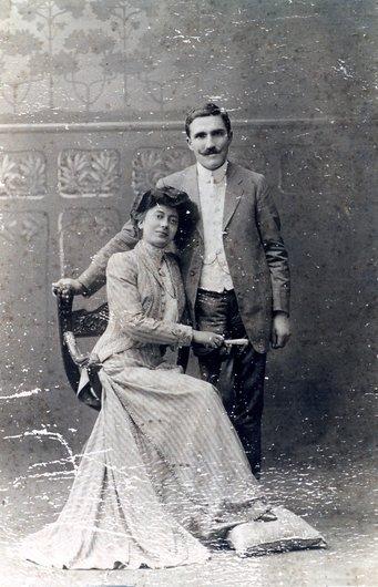 Mariage de Paul Delacoste et d'Yvonne Couty à Passo Fundo (Rio Grande do Sul), au Brésil en 1909