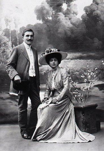 Paul et Yvonne Delacoste, née Couty