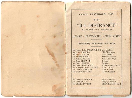 Arthur et sa visite à Miécourt, 1928