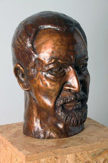 Buste de Maurice Béjart réalisé par Colette Jotterand-Vetter