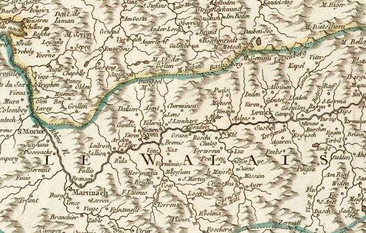 Valais, carte de 1756