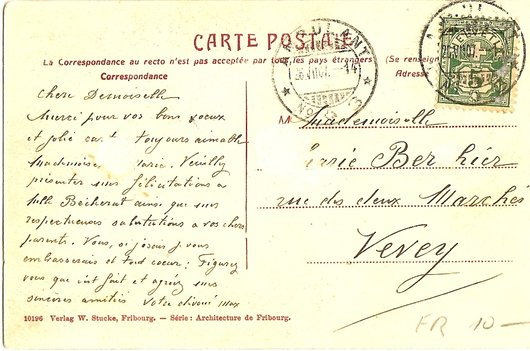 carte postale originale texte