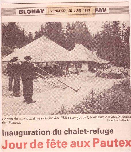 Inauguration du Chalet des Pautex, Blonay
