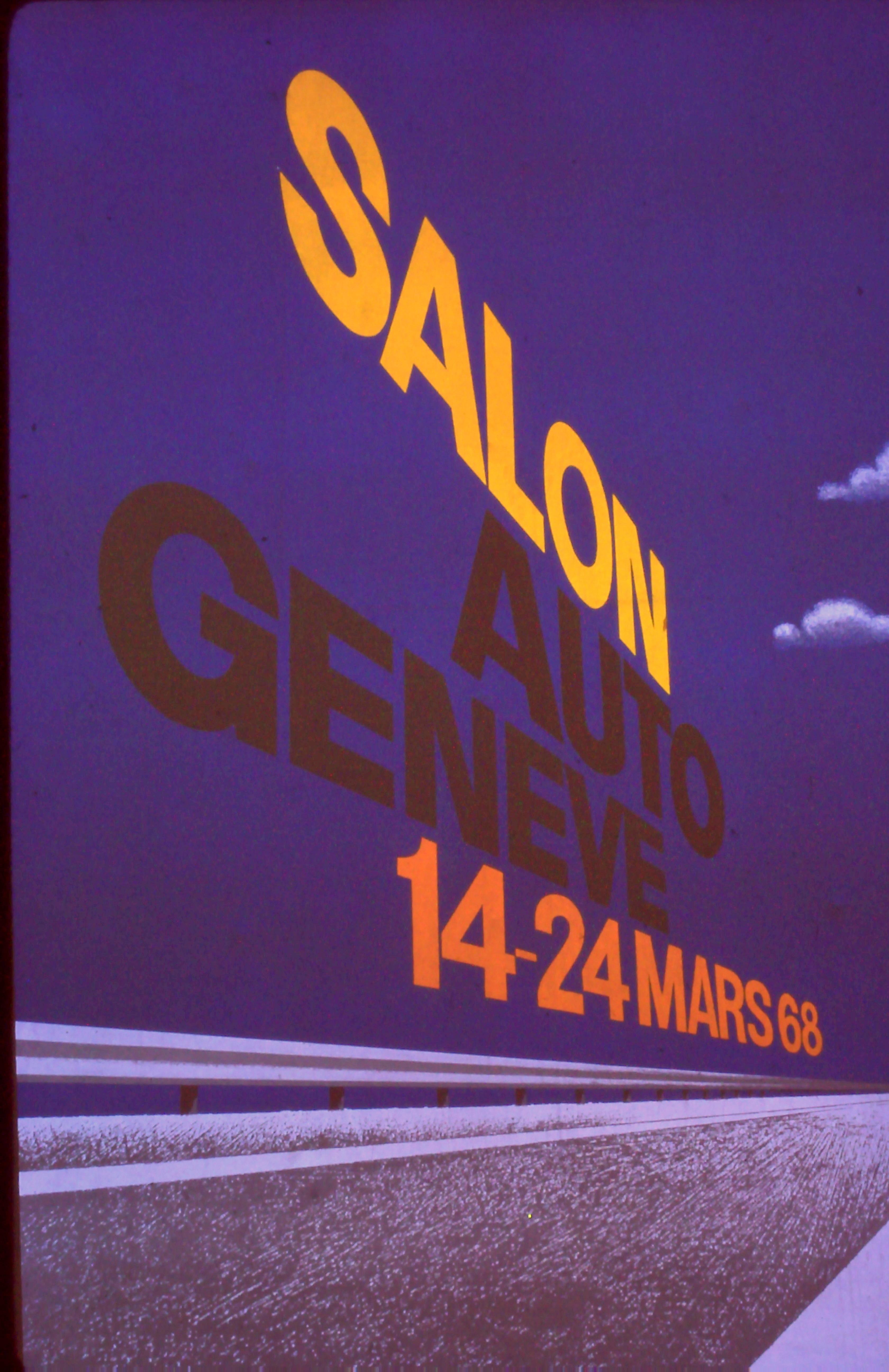 Auto Salon Genève '68 - L'affiche