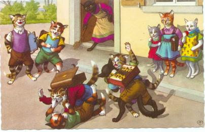 Illustration de scène d'école ....