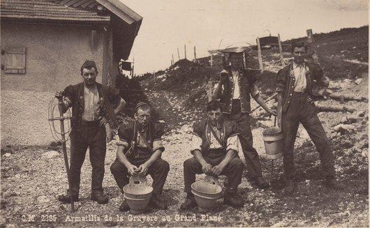 Armaillis de la Gruyère au Grand Plané 1929