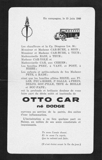 Souvenir de la mort du car
