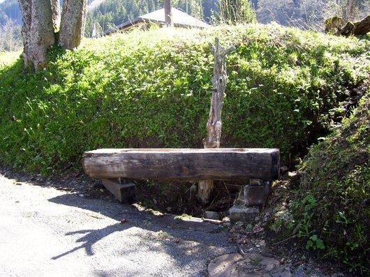 Orgevaux, La Cerniaulaz, fontaine en bois