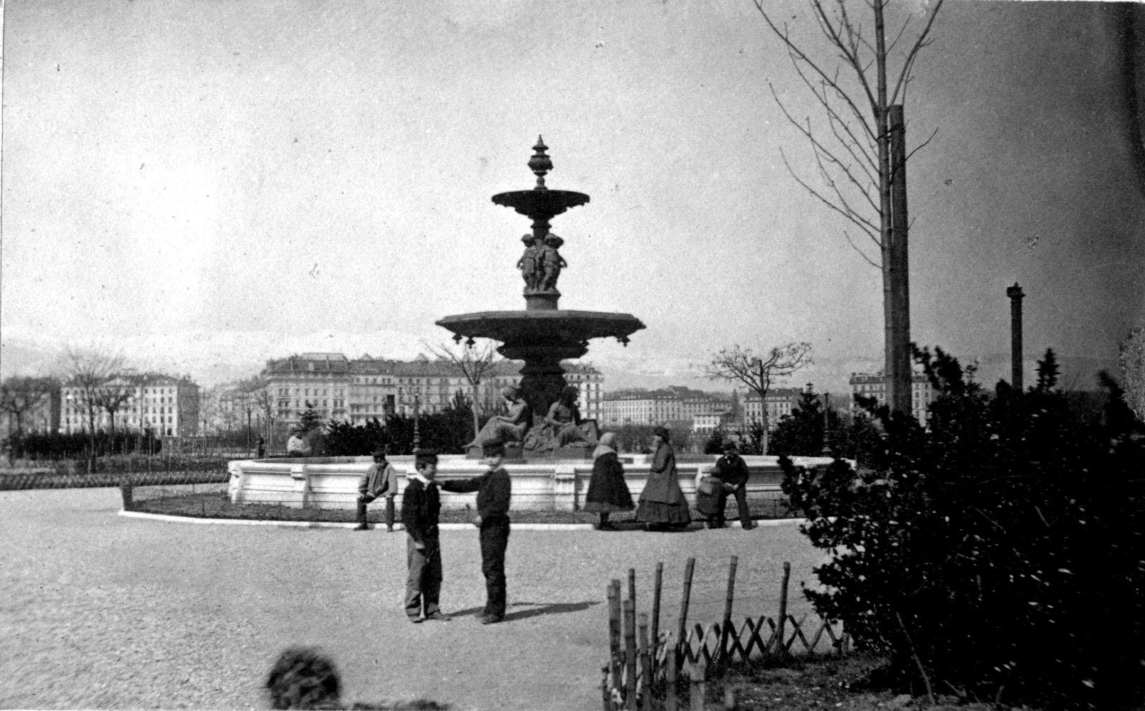 Gen ve jardin anglais fontaine notre histoire for Jardin anglais histoire