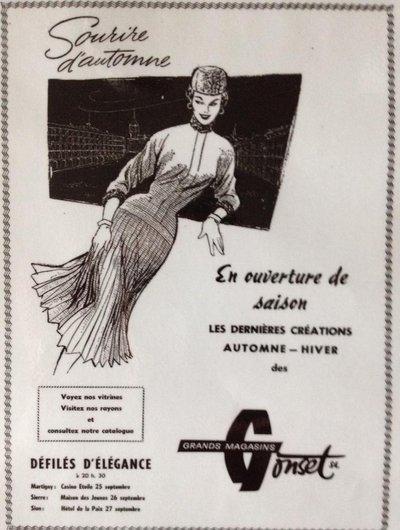Annonce des Grands-Magasins Gonset