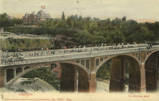 Inauguration du pont Chauderon-Montbenon