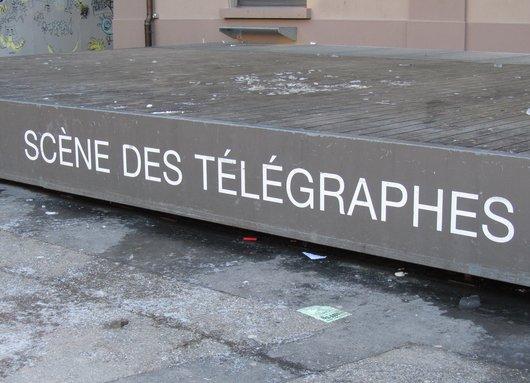 Lausanne Flon Scène des Télégraphes