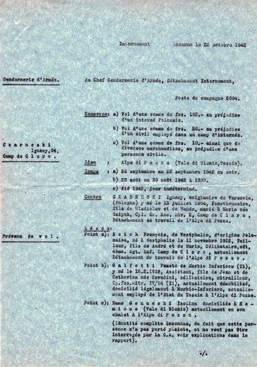 Locarno, le 22 octobre 1942