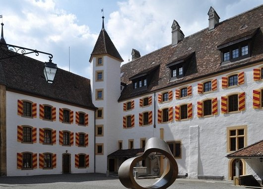 La cour intérieure du Château de Neuchâtel (nord-ouest)