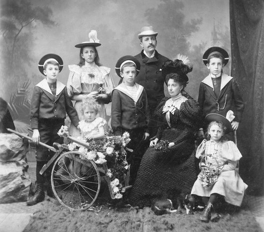 Lucien Émery et famille
