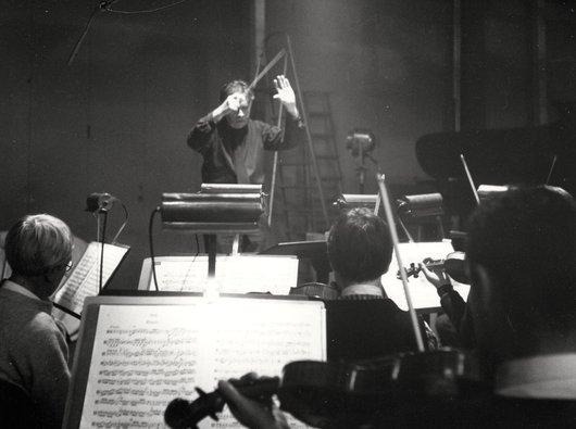 Répétition d'orchestre à la Cathédrale de Lausanne