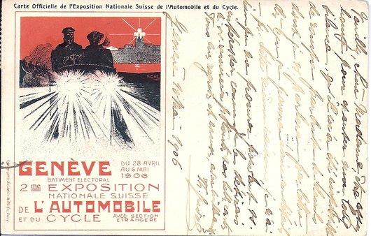Genève, 2ème salon de l'automobile 1906