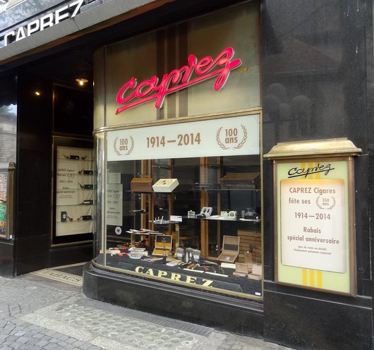 Centenaire et fermeture du magasin Caprez Cigares - Lausanne