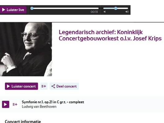 L. van Beethoven, Symphonies Nr. 1 et 8, CGOA, Josef Krips, 1952