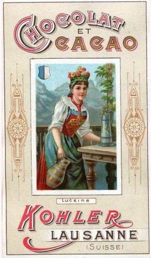 Costume suisse de Lucerne, chromo Kohler