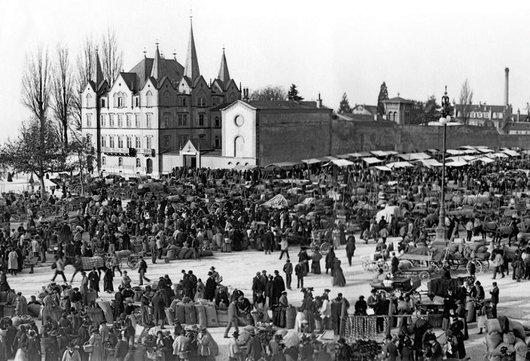 St Martin sur la Place du marché à Vevey