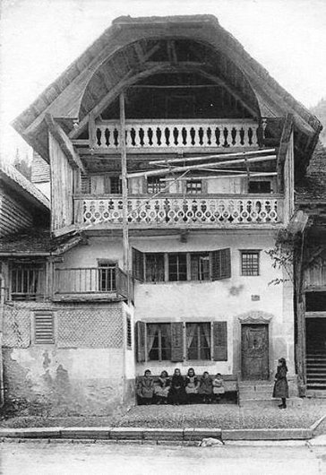 Villars sous Mont, maison Fribourgoise