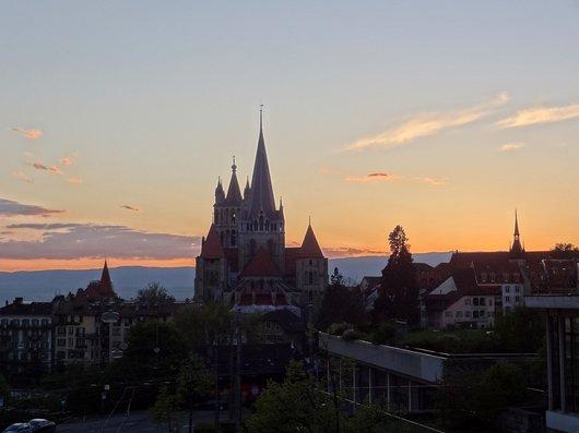 Coucher de soleil sur Lausanne