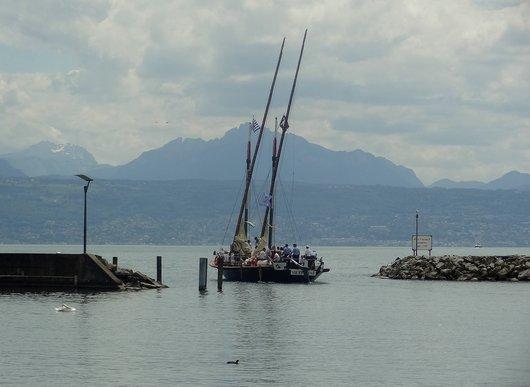 Remise à l'eau - barque La «Vaudoise»