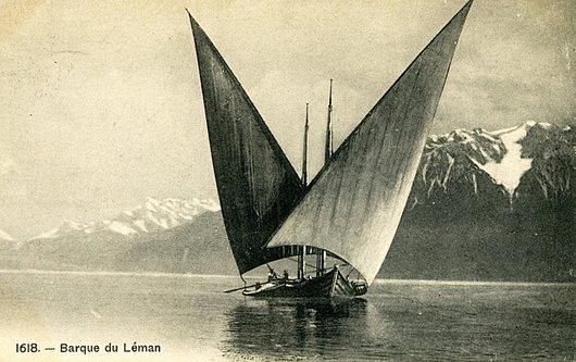 Une barque sur le Léman