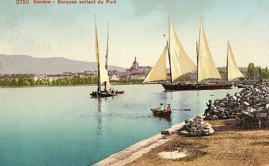 Genève, Barques dans la rade