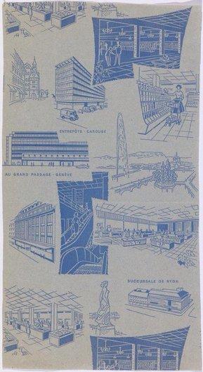 """Carte publicitaire pour les Grands-Magasins """"Au Grand-Passage"""""""