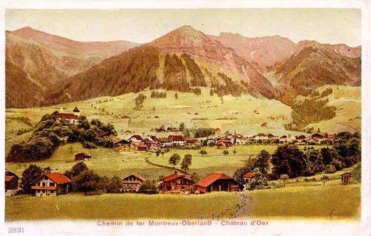 MOB les paysages de la ligne  Château d'Oex 1905