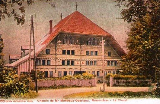 MOB les paysages de la ligne  Rossinière 1905