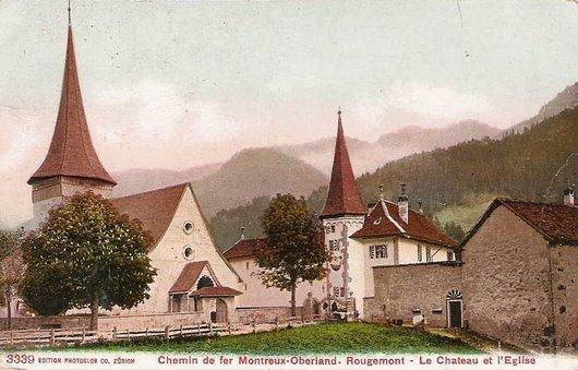 MOB les paysages de la ligne  Rougemont 1905