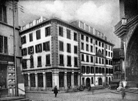 Fribourg,  Anciens Hôtel et café des Merciers