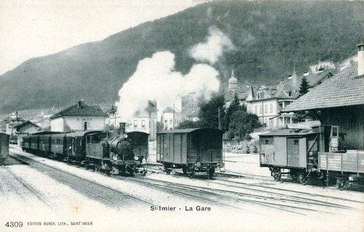 Saint Imier la gare 1902