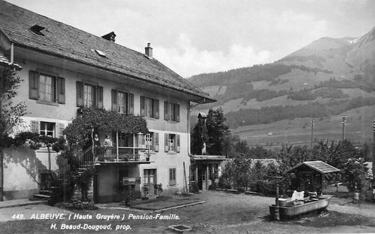 Albeuve, Restaurant, Hôtel Pension